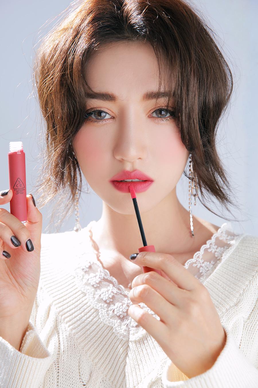 Kết quả hình ảnh cho 3CE Velvet Lip Tint #Pink Break
