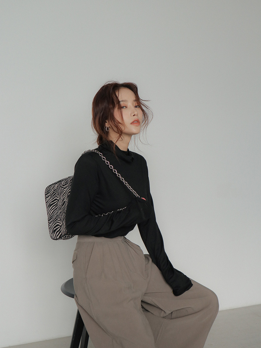 スタイルナンダ ソフトタッチハイネックTシャツ