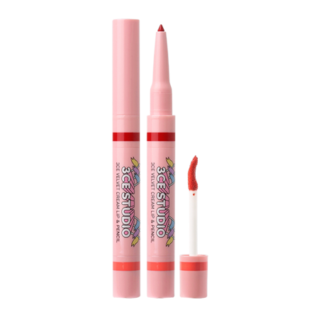 3CE STUDIO VELVET CREAM LIP & PENCIL #CORAL MOON