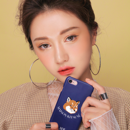 3CE MAISON KITSUNE PHONE CASE #NAVY