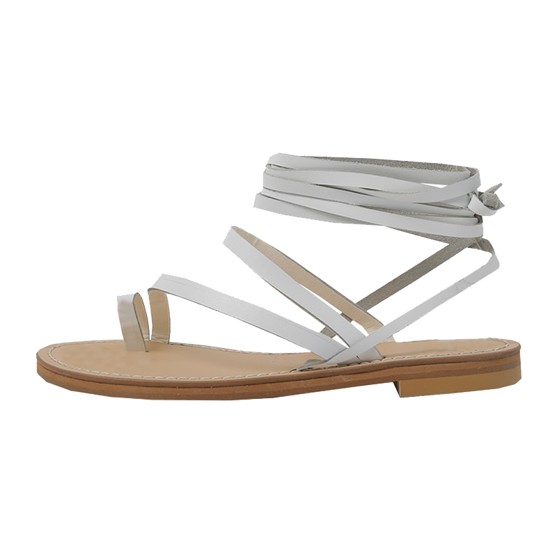 higher lace up flip-flop sandal