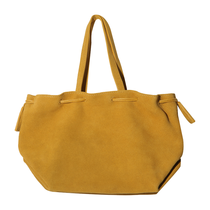 SUEDE STRING BAG