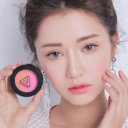3CE DUO COLOR FACE BLUSH #MISS FLOWER