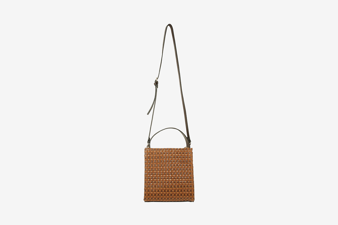 square weaving frame box bag