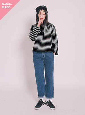 DENIM BELL BOTTOM_BL/J