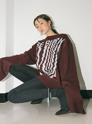 DROP THE BE BURN KNIT