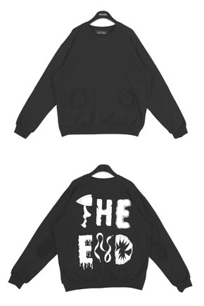 THE END PRINT BACK SWEATER