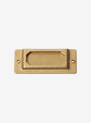 BRASS PRODUCTS LABEL PLATE-GOLD