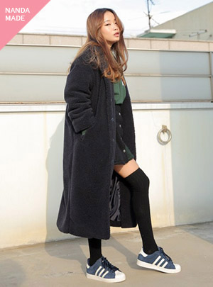 BUTTON LONG COAT_NV