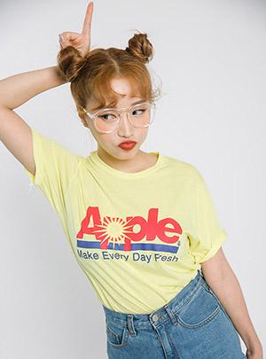 진리의 상큼애플 티셔츠
