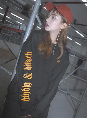KKXX 레터링소매 맨투맨