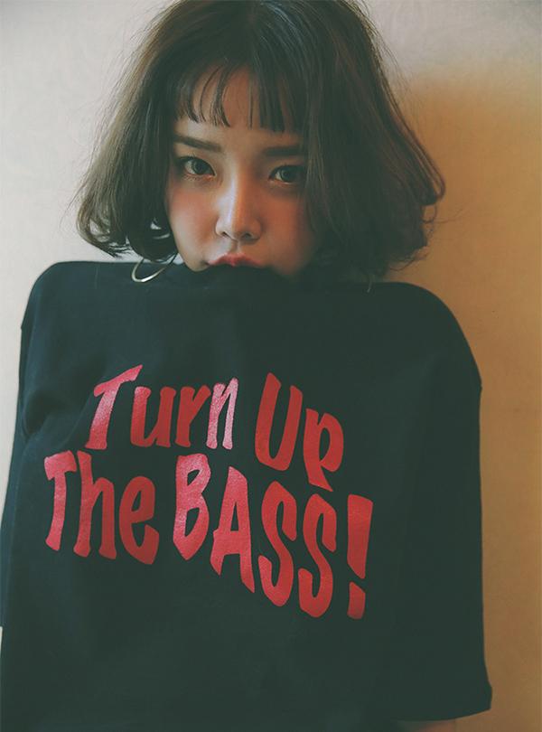 Turn up 배색올킬 티셔츠
