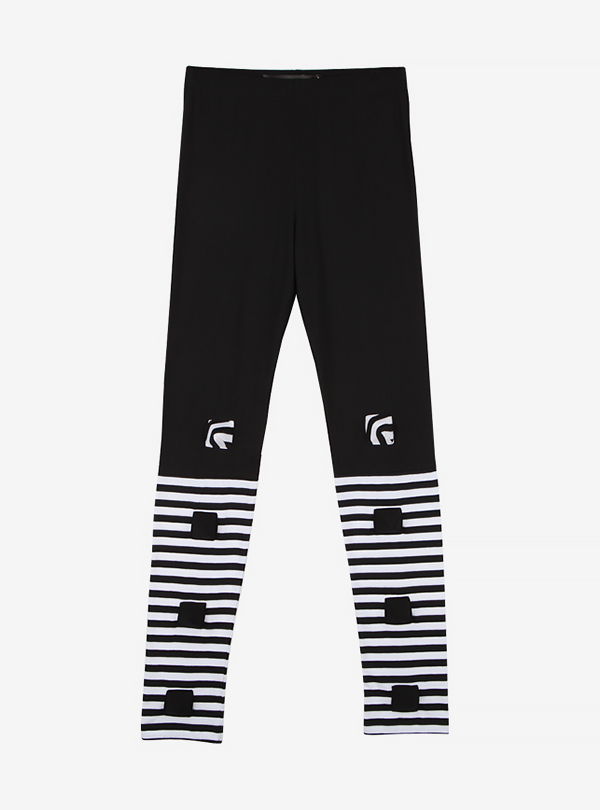HALF STRIPE LEGGINGS