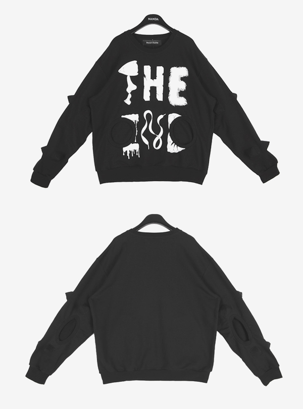THE END PRINT SPIKE SWEATER