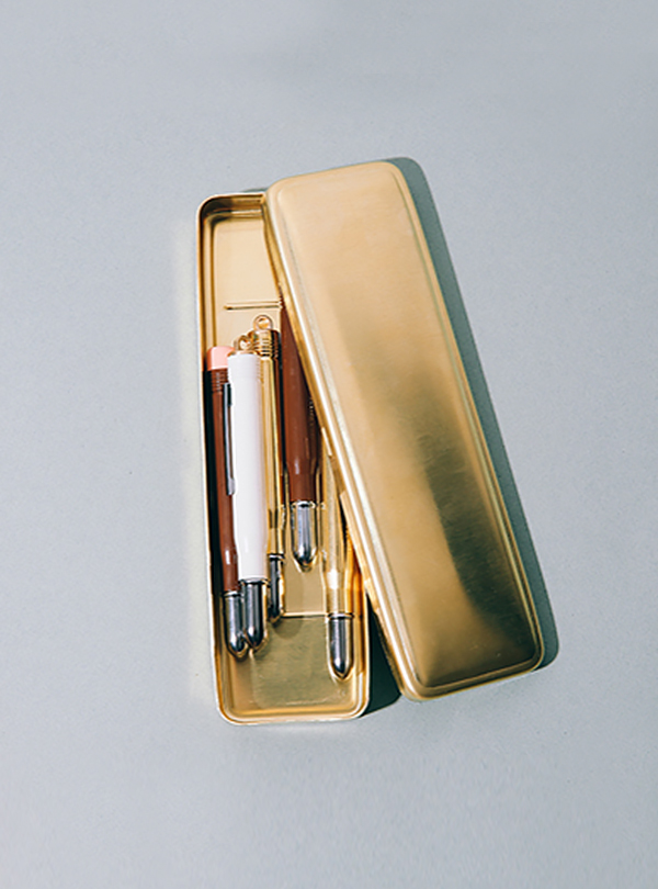 BRASS PRODUCTS PEN CASE-GOLD