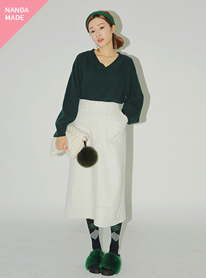 WOOLEN STITCH LONG_WM