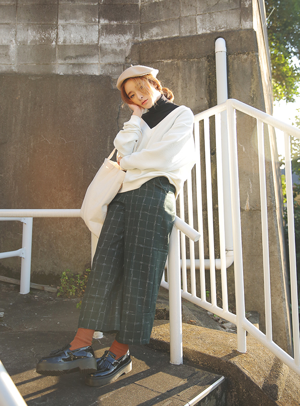 HAZY CHECK SLACKS_KH